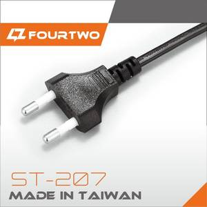 Wholesale power cord: KC Approved 2pin Plug Power Cord Cable