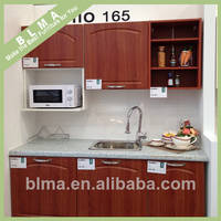 China Ready Made Simple Designs PVC Wood Kitchen Cabinets