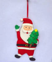 Sell Santa Claus polymer clay christmas ornaments