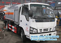 Sell 4x2 4.28cbm Small ISUZU oil tank truck with fuelling function