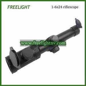 Wholesale rifle scope: 1-6x24 Tactical Riflescope with Red Dot Illuminated Reticle Rifle Scope