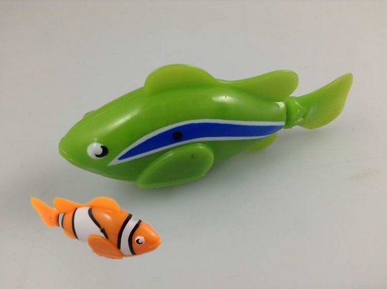 New design robot fish toy for kids bath playing id 7530958 for Robot fish toy