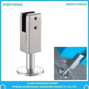 Wholesale Other Door & Window Accessories: EVERSTRONG ST-P006 Stainless Steel Adjustable Toilet Partition Fitting Floor To Glass Panel Leg Supp