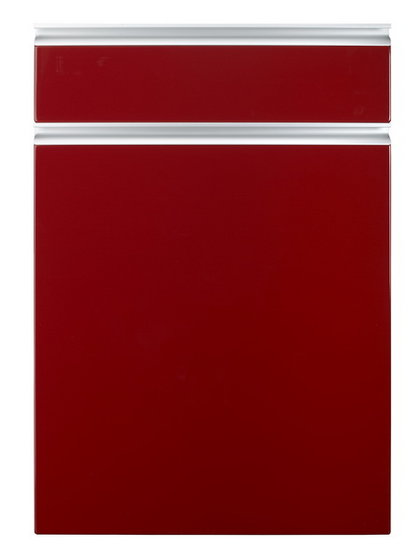 Red high gloss kitchen doors images for Red high gloss kitchen doors