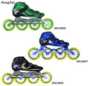 Wholesale caps gold: 110mm Speed Skate Inline Shoes for Men Women (DS1005-1007)
