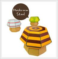Paper Furniture for Kids -mushroomstool-
