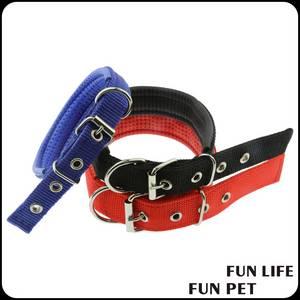 Wholesale sponge: Soft Sponge Padded Dog Collar Nylon Reflective Dog Neck Belt