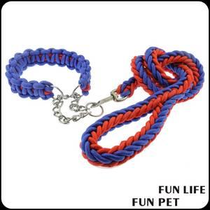 Wholesale woven label custom: Strong Braided Nylon Rope Walking Dog Leashes