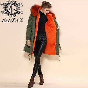 Wholesale Coats: Women's Fur Parka Coat with Hood