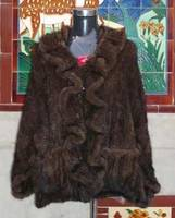 Mink Fur Knitted Cape/Shawl/Stole/Poncho/Scarf/Wrap