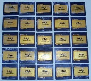 Wholesale caps gold: Pentium Pro Gold Cap Chips Available