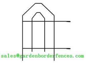Wholesale gothic garden folding fence: Gothic Garden Border Folding Fence