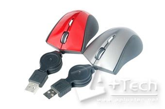 Retractable USB Mini Laser Mouse