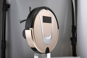 Wholesale champagne: Champagne Color Self Charging Robot Vacuum Cleaner Anti-falling, Anti-bumping with CE, CB, RoSH
