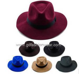 Wholesale winter hat: Winter Fashion Style Wool Felt Hat