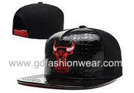 Hot selling PU Leather Snpaback Hat