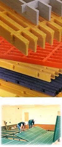 Fiberglass Pultruded Grating,GRP Molded Grating