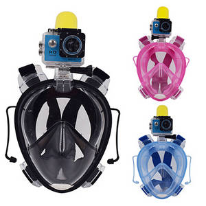 Wholesale full face mask: Full Face Diving Mask and Snorkel for GoPro with Good Suitable for Adult