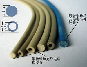 Wholesale silver plated copper strip: Conductive Rubber