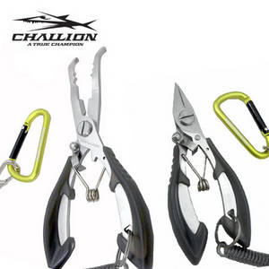 Wholesale ring nipper: CHALLION Fishing Plier Curved Long Nose Fly Tackle Tying Tool Cutter Nipper Tools