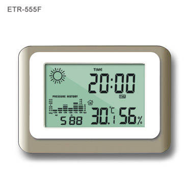 LCD Weather Station Clock with Digital Barometer(id:714106 ...