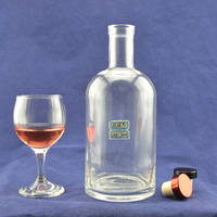 750ml Round Shape Liquor Glass Bottle Wholesell