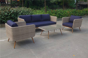 Wholesale Bamboo, Rattan & Wicker Furniture: Wood Looking Garden Outdoor Furniture Fresh Design Sofa Set