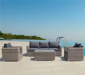 Wholesale Garden & Patio Sets: Luxury&Durable Round PE Rattan Wicker Sofa Set Outdoor Furniture