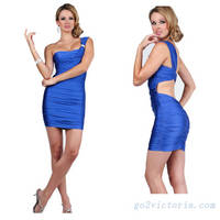 Wholesale Satin Royal Blue Cocktail Dress ( RB9501)