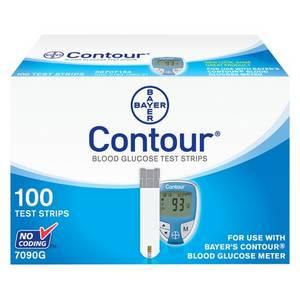 Wholesale blood glucose test strips: Bayer Contour Blood Glucose Test Strips 100 Ct