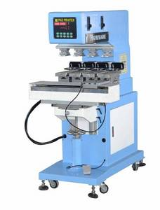 Wholesale cup pad: 4 Color Closed Ink Cup Pad Printing Machine with Shuttle