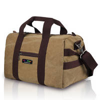 Canvas Travel Bag with Leather Patches