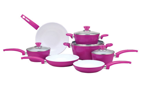 "Goodful Titanium Ceramic Navy Non-Stick 11"" Fry Pan ... |Colorful Ceramic Cookware"