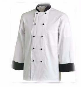 Wholesale polyester tag: Custom Cook Work Shirts Restaurant Uniform Chef Coat White Chef Jacket