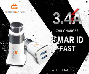 Wholesale usb car charger: Car Charger  AC Adapter   Smart ID Tech. Dual USB Port 3.4V