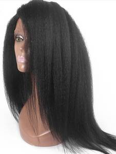 Wholesale full lace wigs: Hot Popular Brazilian Hair Kinky Straight Full Lace Wig Free Shipping