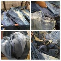 Sell women jeans pants light blue/dark blue/cropped denim pants