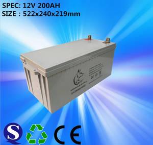 Wholesale ups battery: 12V 200ah Solar Battery/AGM Lead Acid Battery/Deep Cycle Battery for UPS