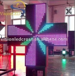 Wholesale pharmacy cross: LED Pharmacy Cross(100 Cross Full Color)