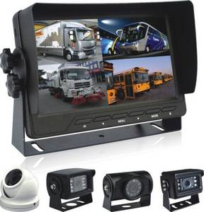 Wholesale car monitor: Car  Rearview Systems with Quad LCD Monitor and Waterproof Nightvision Cameras