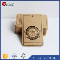 Recycle Kraft Paper Hang Tags Custom