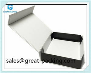 Wholesale handmade pillow: Foldable Magnet Ribbon Coated Paper Cardboard Cosmetic High End Luxury Handmade Paper Box