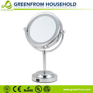 Wholesale led light makeup mirror: 6 Inch LED Table Cosmetic Mirror