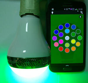 Wholesale android mid: Smart Phone Music Light Bluetooth LED Speaker Bulb Light Music Speaker