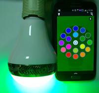 Smart Phone Music Light Bluetooth LED Speaker Bulb Light Music Speaker