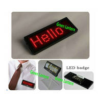 Now Design USB Rechargeable Scrolling LED Name Tag