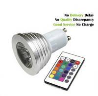 E27 MR16 GU10 RGB LED Spotlight with Remote Controller