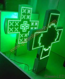 Wholesale double side cross led: LED Pharmacy Cross Sign Display