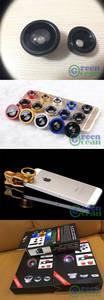 Wholesale mobile phone: 180 Fisheye, 0.65x Wide Angle, 10x Macro for Most Mobile Phones Apple, Samsung, LG, Sony