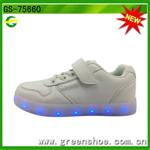 Wholesale fashion shoes: 2017 Fashion High Quality LED Light Up Kids Shoes,Popular LED Shoes Kids